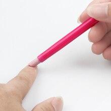 1 шт. белая и красная кварцевая ручка для удаления кутикулы ногтей Hangnails моющаяся для удаления мертвой кожи маникюрный Триммер Инструмент для дизайна ногтей шлифовальные стержни