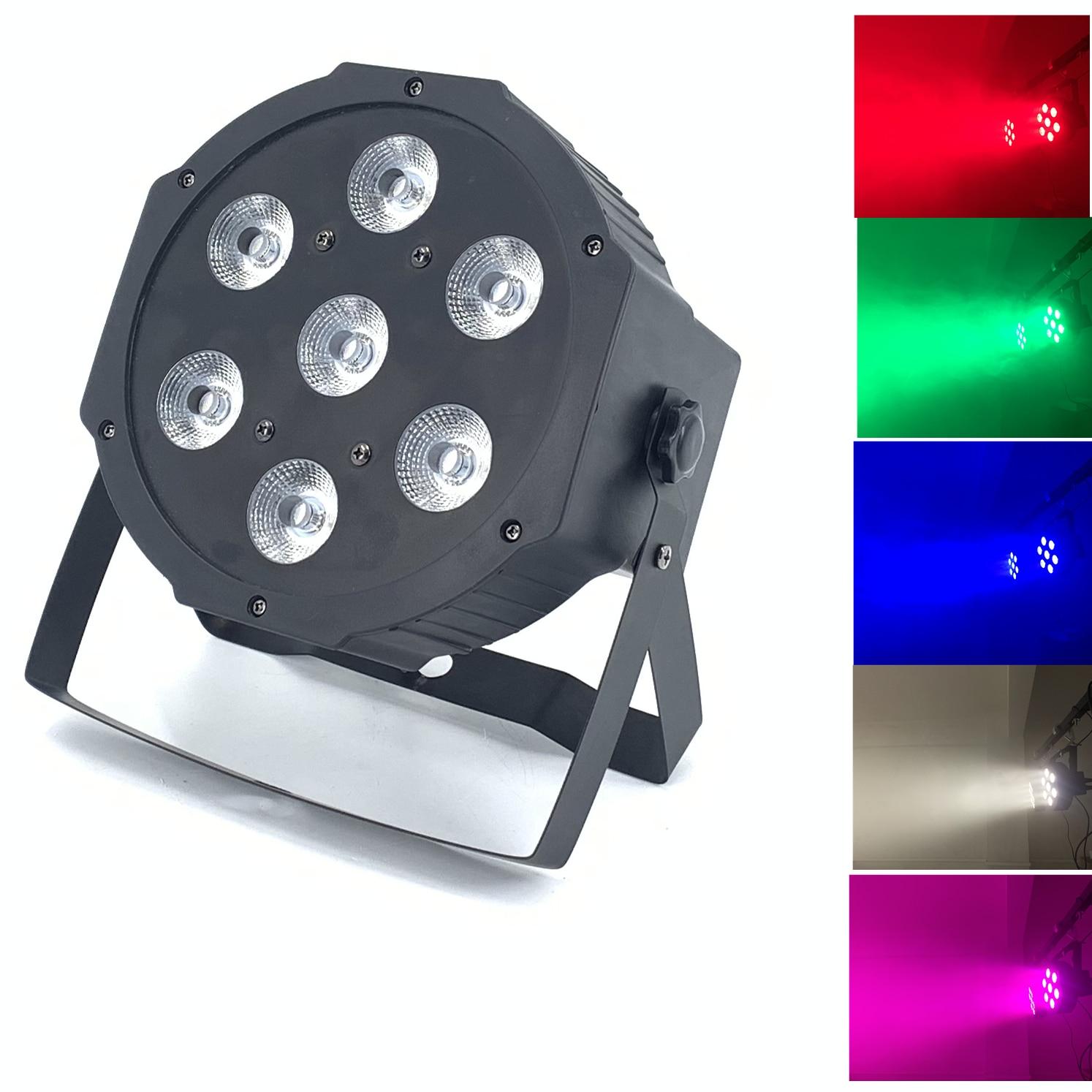 7x12W LED Flat SlimPar Quad Light 4in1  LED DJ Wash Light Stage Uplighting No Noise
