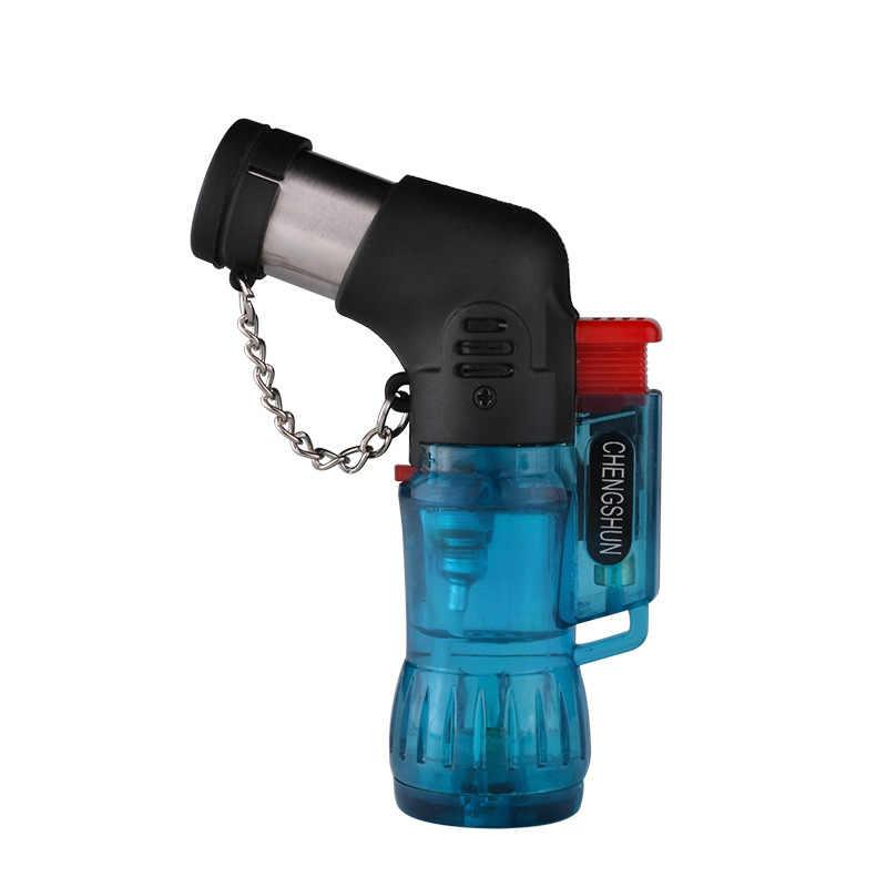 Spray Gun Jet Torch Gas Lebih Ringan Tahan Angin Rokok Berkemah Pistol Lebih Ringan Inflatable Butana Portabel Bensin Cerutu Outdoor