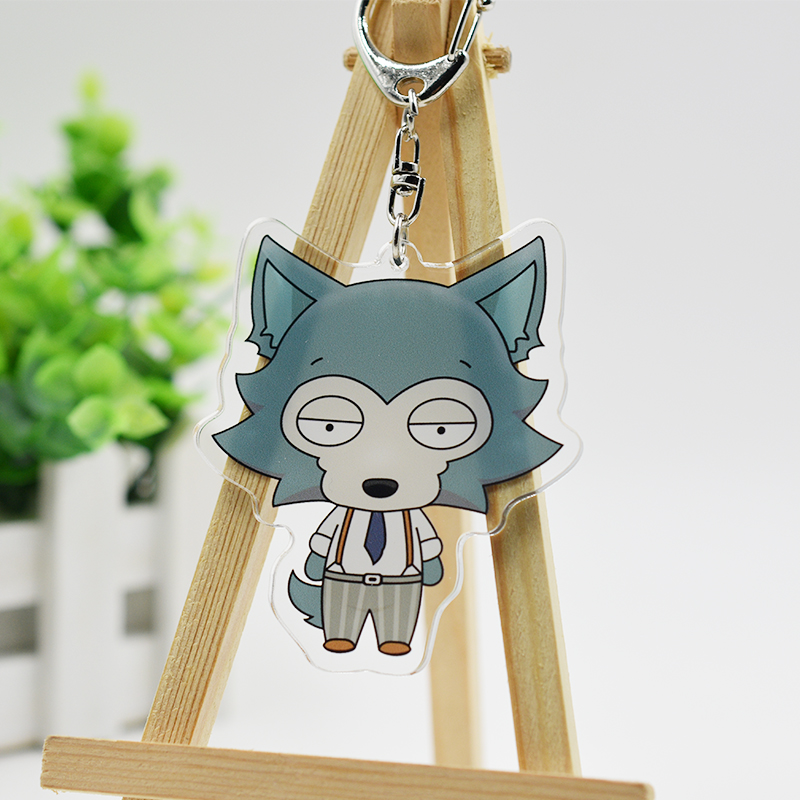 Anime Keychain BEASTARS Legosi Haru Louis Cosplay Accessories Acrylic Figure Keyring Cute Pendants Collection Gifts