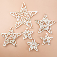 Christmas-Star Background Wreath Artificial-Plants Home-Decoration-Accessories Wedding