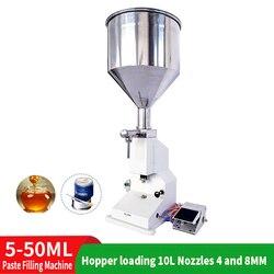 5-50ml 10L Pneumatische Quantitative Paste Füll Maschine Flüssige Füll Maschine für Kosmetische Shampoo Trinken Wasser Bee Pedal