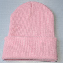 Hat Beanie Hip-Hop Woman Knit Ski Fashion Oversize Girls Baggy Winter Boys Solid-Color