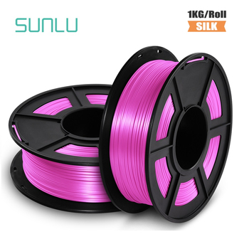 PLA SILK Filament vacuum SILK 1kg 2.2 lbs 1.75mm per roll 3D Printer Filament DIY for 3D printing Refills geeetech 1kg 1 75mm pla filament vacuum packaging overseas warehouses a variety of colors for 3d printers