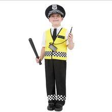 Детский костюм для полиции жилет и шапка дорожной нарядное платье