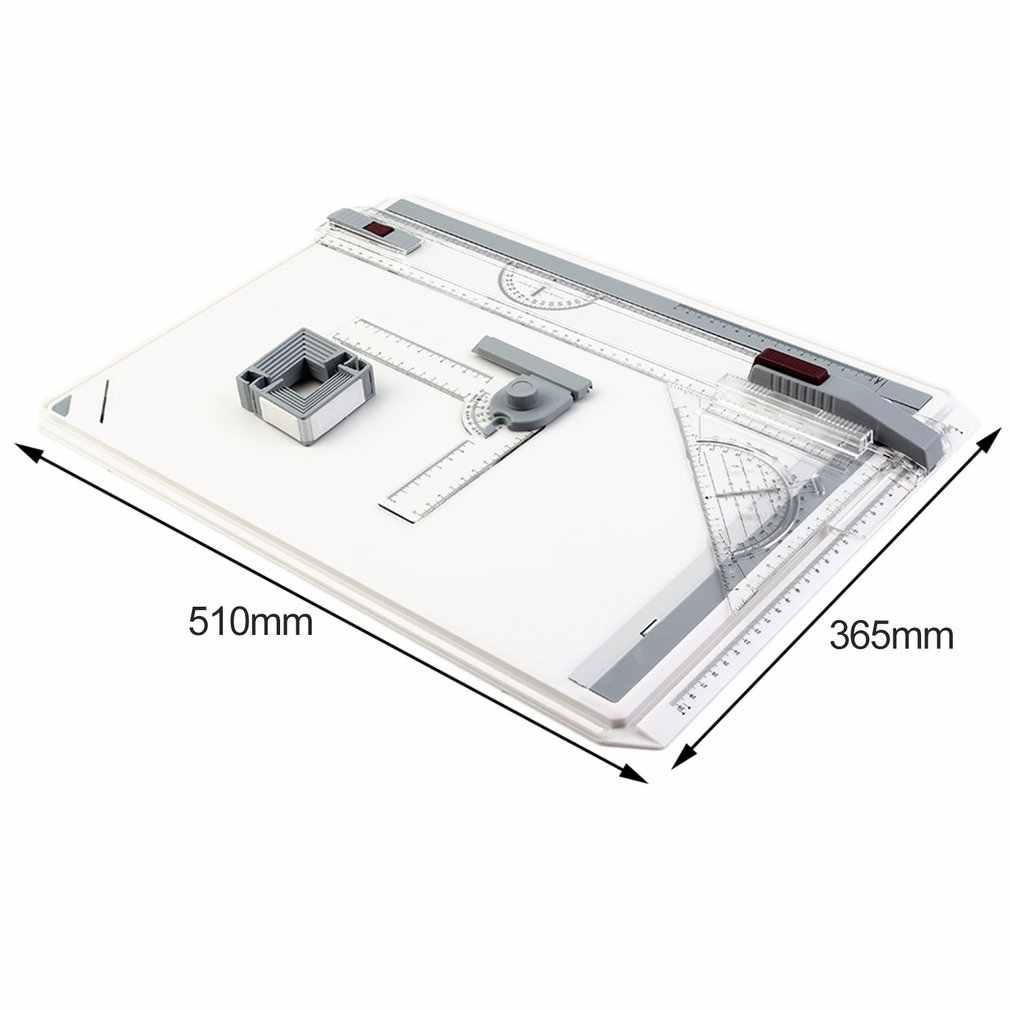 Portable A3 planche à dessin tableau de peinture avec règles parallèles Clips d'angle tête-serrure réglable Angle Art dessiner outils