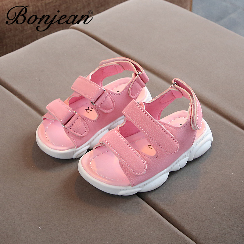 New PU Leather Sandals Boys 2020 Soft Leather In Summer The New Boys And Girls Children Beach Shoes Kids Sport Sandals Princess