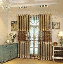 Европейский стиль шторы для спальни виллы затенение кружево вышивка гостиной