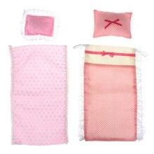 1: 12 Dollhouse Miniature Bunk Bed Mattress Pillow Doll House Mini Furniture Decoration