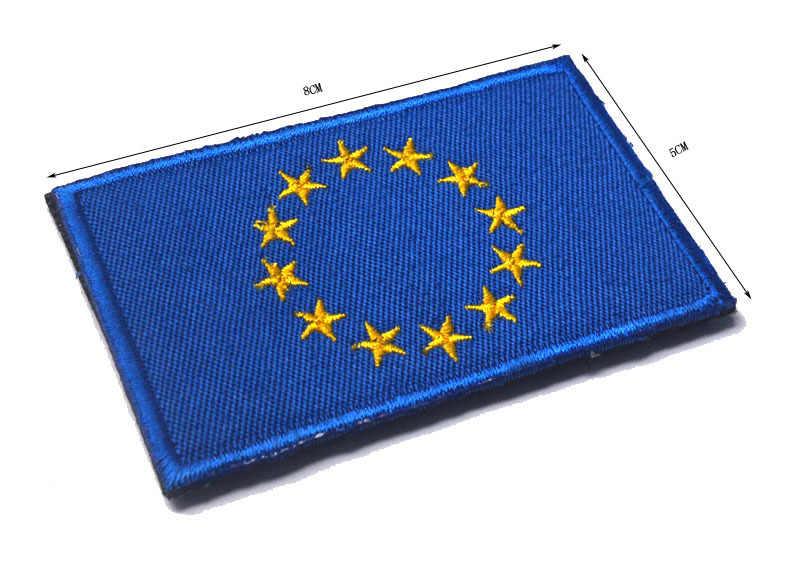 ヨーロッパ旗イングランドポルトガルロシアウクライナ EU ベルギー刺繍腕章ベルクロ布ラベル