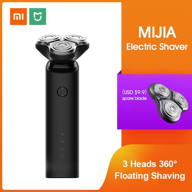 Xiaomi Mijia Electric Shaver Razor Shaving Beard Machine for Men Dry Wet Beard Trimmer Rechargeable washable 3D head Dual Blades 1