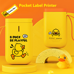 B.Duck x NIIMBOT Co-branding Portable Handheld Label Printer Thermal Wireless BT Label Maker Sticker Machine Mini Label Printer