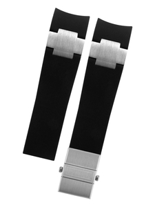 Image 5 - 시계 밴드 팔찌 실리카 젤 시계 밴드 Ulysse Nardin 다이버 방수 고무 시계 스트랩 스포츠 22mm 남자 블랙 블루 브라운