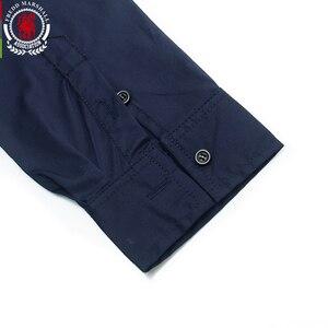 Image 4 - Fredd מרשל 2020 חדש אופנה טלאי חולצה גברים מזדמנים מותג בגדי זכר 100% כותנה ארוך שרוול Colorblock חולצה חולצות 219