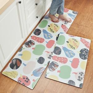 Image 5 - אנטי להחליק מטבח ארוך מחצלת אמבטיה שטיח מודרני קריקטורה מסדרון כניסת שפשפת Tapete שמן הוכחה שינה סלון רצפת מחצלות