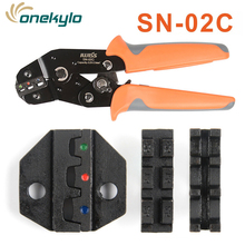 SN-02C 0.5-2.5mm² Type Self Adjustable IWISS Crimping Hand Pliers Electrical Wire Crimper Tools for pulg/tube/insuated terminals