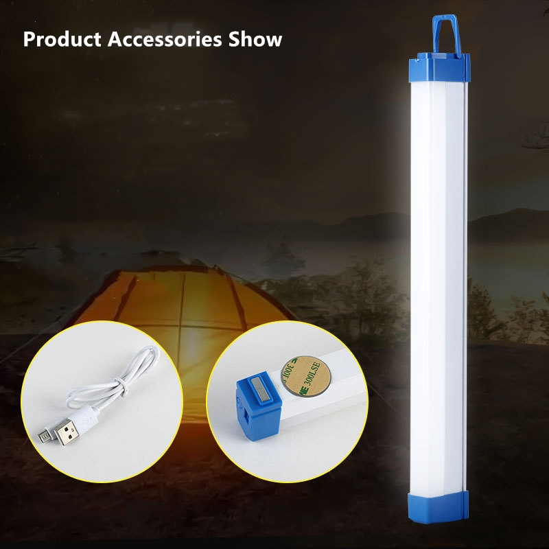 3 IN 1 Tent LED Light Flashlight SOS Flash Function USB Charge Lamp Rechargeable