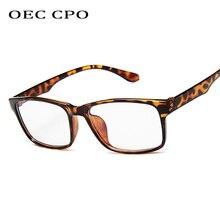 OEC CPO 2019 New Fashion Square Glasses Frames Unisex Reading Brand Designer 5Colors O209