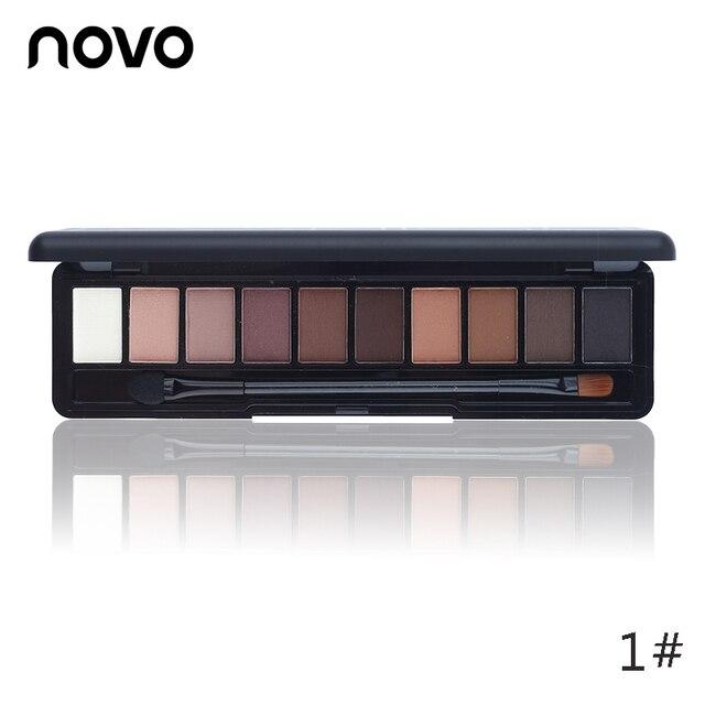 NOVO Beauty Cosmetics 10 Colors Matte Eyeshadow Palette Paleta De Sombra Nude Makeup Eye Shadow Waterproof
