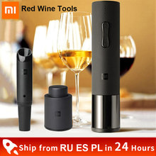 Xiaomi Huohou Automatic Opener Red Wine Electric Bottle Opener Cap Stopper Fast Decanter Set Corkscrew Foil Cutter Cork Out Tool