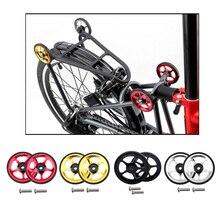 2 sztuk rowerów Easywheel ze stopu aluminium lekka wymiana łatwe koła + 2 sztuk M6 śruby mocujące dla Brompton rower składany