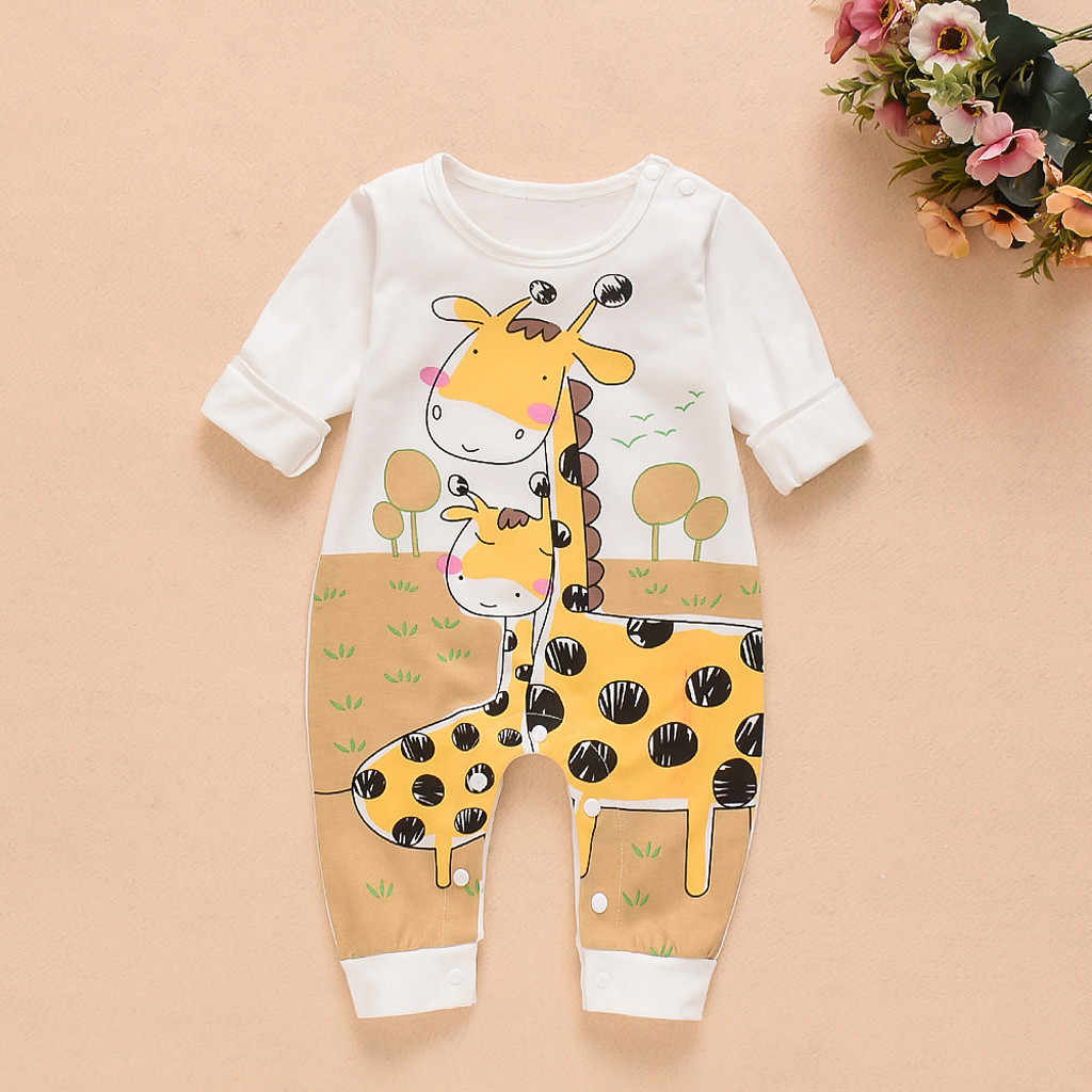 Fashion Baby Romper For Toddler 9 Models Infant Clothes Boys Girls Long Sleeve Jumpsuit Kid Cartoon Animal Letter Romper Clothes
