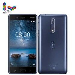 Оригинальный разблокированный сотовый телефон Nokia 8 TA1012, экран 5,3 дюйма, Восьмиядерный, 4 Гб ОЗУ 64 Гб ПЗУ, двойная тыловая камера 13 МП, 4G LTE, Android