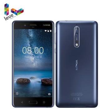 Перейти на Алиэкспресс и купить Оригинальный разблокированный сотовый телефон Nokia 8 TA1012, 5,3 дюйма, Восьмиядерный, 4 Гб ОЗУ 64 Гб ПЗУ, двойная тыловая камера, 13 МП, 4G LTE, Android мобил...
