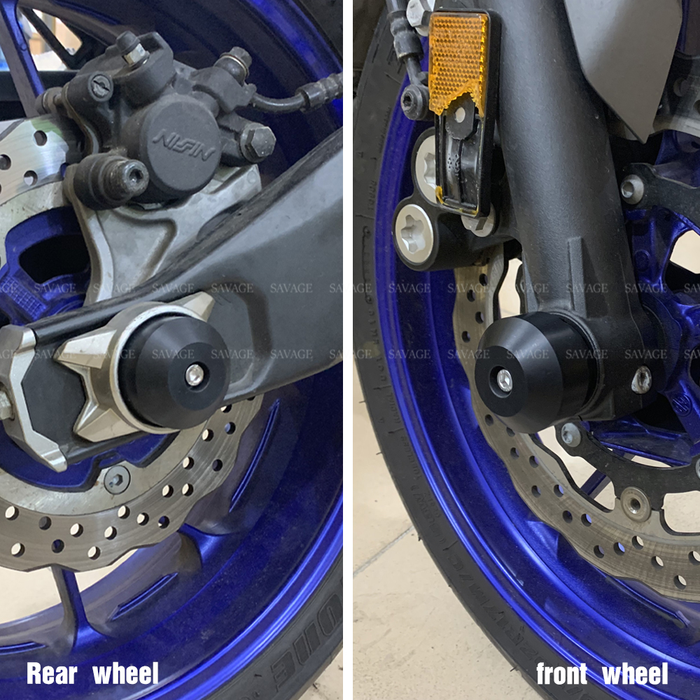 OES Frame Sliders Fork Sliders Rear Axle Sliders Yamaha FZ-07 FZ07 MT-07 2015 2016 2017 2018 2019 No Cut Red
