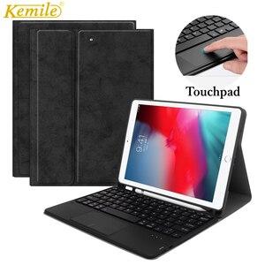 Soporte para teclado touchpad carcasa para iPad mini 4 7,9, para iPad mini 5, 7,9 pulgadas, 2019 pulgadas, con funda para lapicero, funda para teclado touchpad