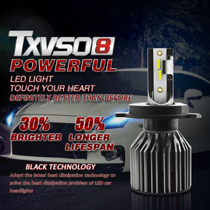 Image 5 - TXVSO8 6000K H4 CSP Turbo Licht Mini H7 Auto Scheinwerfer Lampe LED 9006/HB4 9005/ HB3 H1 H8 h9 H11 Automotive LED Lampen 10000LM