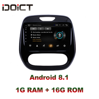 IDOICT Android 8.1 Car DVD Player GPS Navigation Multimedia For Renault Captur CLIO Samsung QM3 car stereo wifi