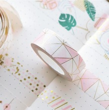 Korean Hand Account Tape Can Be Torn Diy Pink Bronzing Adhesive Paper Original Design Washi Christmas Washtape