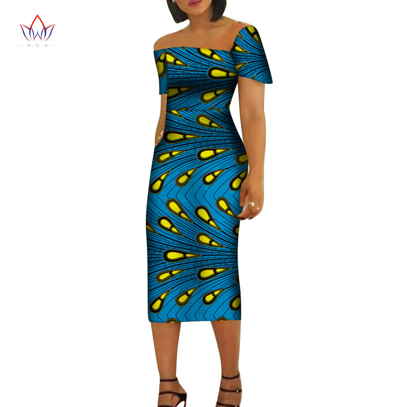 Women Maxi Dress African Print Dresses For Women Short Sleeve Dress Women Print Clothing Causal Party Dress Can Customize Wy6498