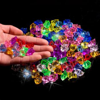 400PCS Plastic Gems Ice Grains Colorful Small Stones Children Jewels Crushed Ice Counter Crystal Diamonds