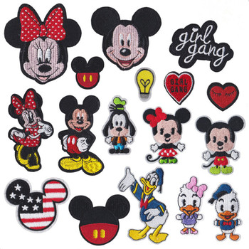 Disney high-end embroidery patch Mickey Minnie anime image Embroidery avatar Clothes decoration Surprise gift