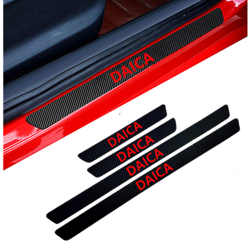 Protector de alféizar de puerta de fibra de carbono con estilo para coche de 4 uds, pegatinas de protección Dacia Duster Logan Sandero Lodgy Pads