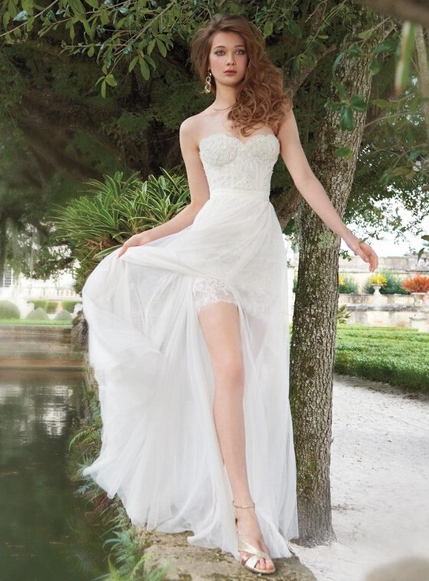 Lace Backless 2 Piece Detachable Skirt 2018 Robe De Mariage Gelinlik Trouwjurk Brautkleid Robe De Soiree   Bridesmaid Dresses