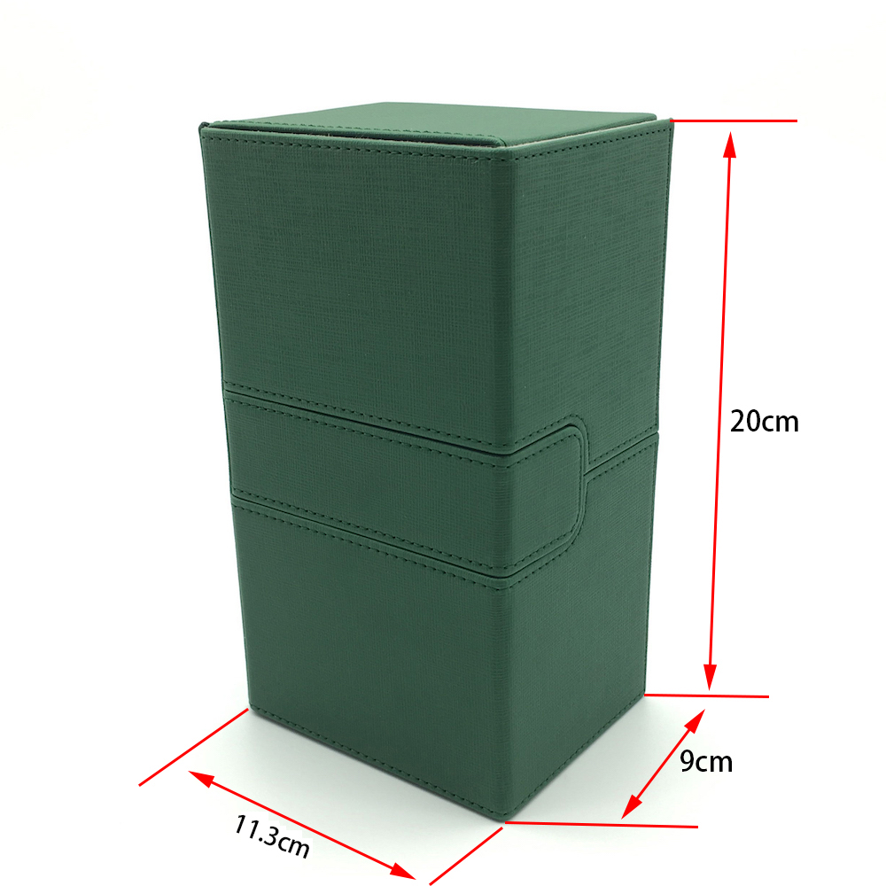 Large Size Mtg Pokemon Yugioh Deck Box Card Case Deck Case Board Game Card Box: Green Color image
