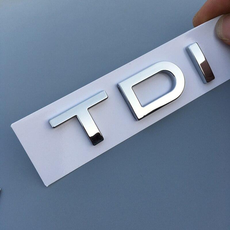 1X Chrome ABS TDI Emblema etiqueta traseira do carro para Audi A1 A3 A4 A5 A6 A6L A7 A8 S3 S6 Q3 Q5 Q7 RS TT S