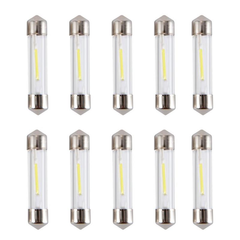 O diodo emissor de luz c5w conduziu a lâmpada branca fria da placa de licença da leitura das lâmpadas do carro 12v conduziu a lâmpada 10 pces conduziu a abóbada do festão 36mm 31mm 41mm