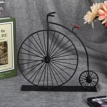 Miniaturas Mini pintura recubierta Retro elegante modelo de bicicleta decorativa negro modelo de bicicleta decoración de escritorio decoración del hogar