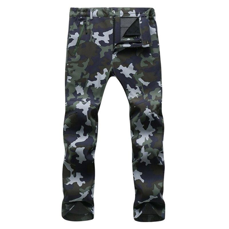 Winter Cargo Pants Men Women Fleece Shark Skin Softshell Trousers Waterproof Thermal Stretch Sweatpants Army Tactical Work Pants