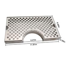 "Homebrew Beer  Drip Tray Stainless Surface Mount 4.5"" Column Cut Out"
