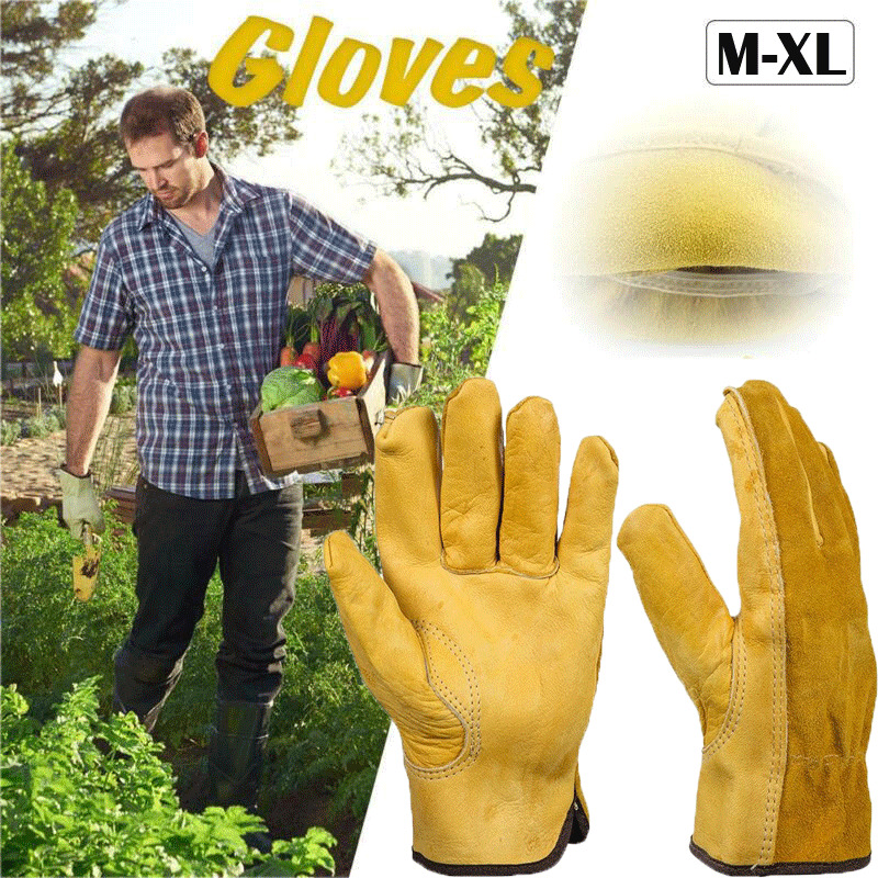 1Pair Leather Gloves Necessity Safety Protective Mutifunctional Welding Welder Work Good Helper Convenient Repair Wear-Resistant