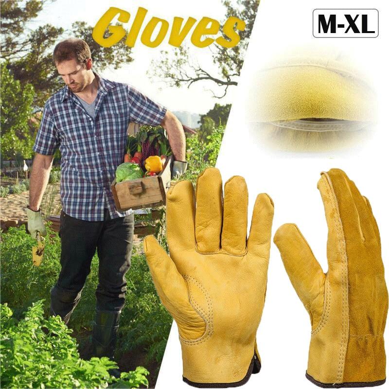 1Pair Leather Gloves Necessity Safety Protective Mutifunctional Welding Welder Work Good Helper Convenient Repair Wear-Resistant