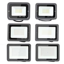 цена на 220V LED FloodLight 10W 20W 30W 50W 100W 200W 300W 500W Reflector LED Flood Light Waterproof IP65 Spotlight Wall Outdoor