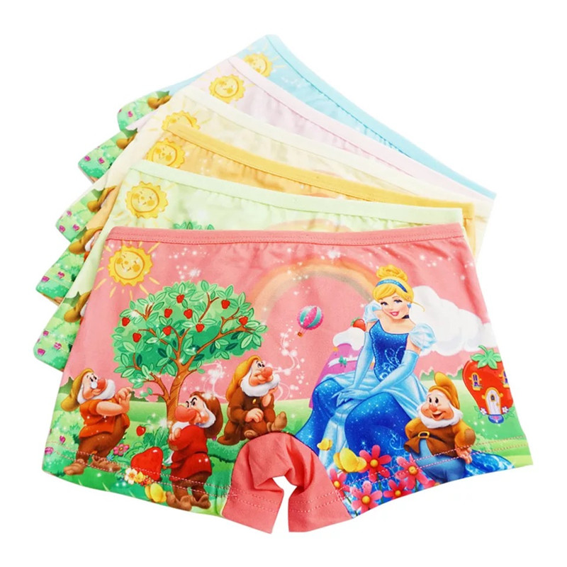 12Pcs Lot Baby Girls Panties Cartoon Kids Underwear Children 39 s Sophie Briefs Under Pant Princess Anna Elsa Boxer Shorts 2 7Y in Panties from Mother amp Kids