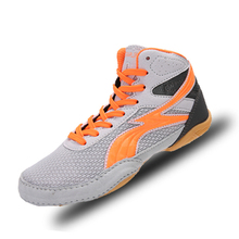 Wrestling-Shoes Boxing-Sneakes Girls Sport Boys Kids Children Red Indoor Gray Professional