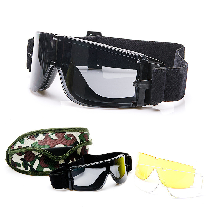 Wholesale US Military Used In Field Operations Explosion-Proof Impact Resistance CS Tactical Glasses Goggles For Motorcycle/X800
